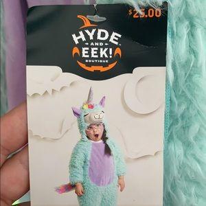 Rainbow llama girl Halloween costume 2t-3t